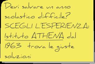 Scegli l'esperienza Istituto Athena.
